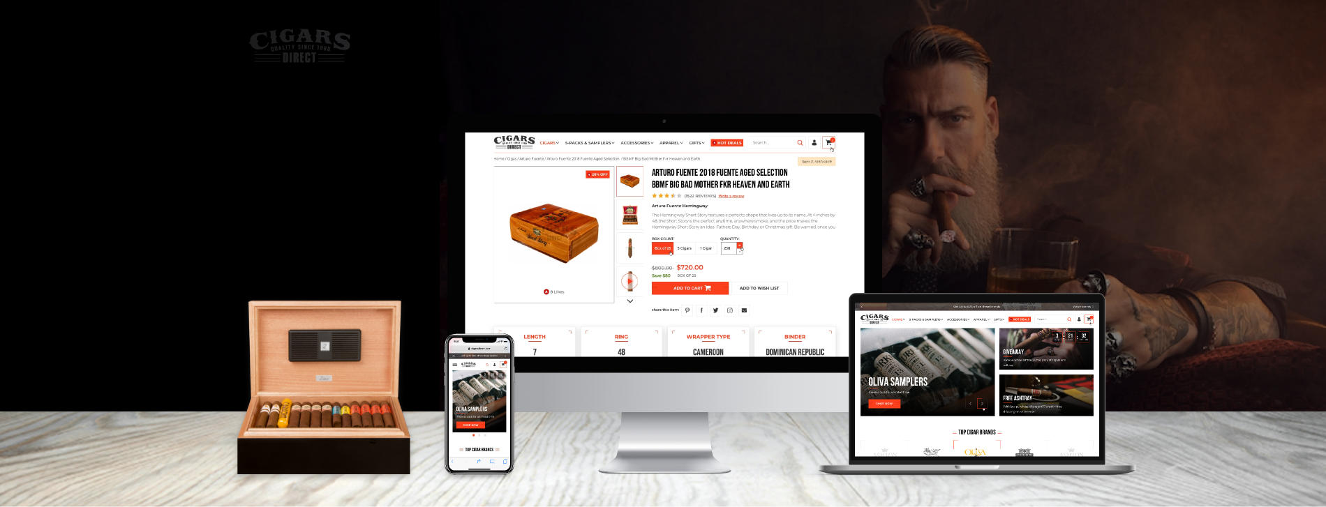 ecommerce digital marketing agency design for cigars direct